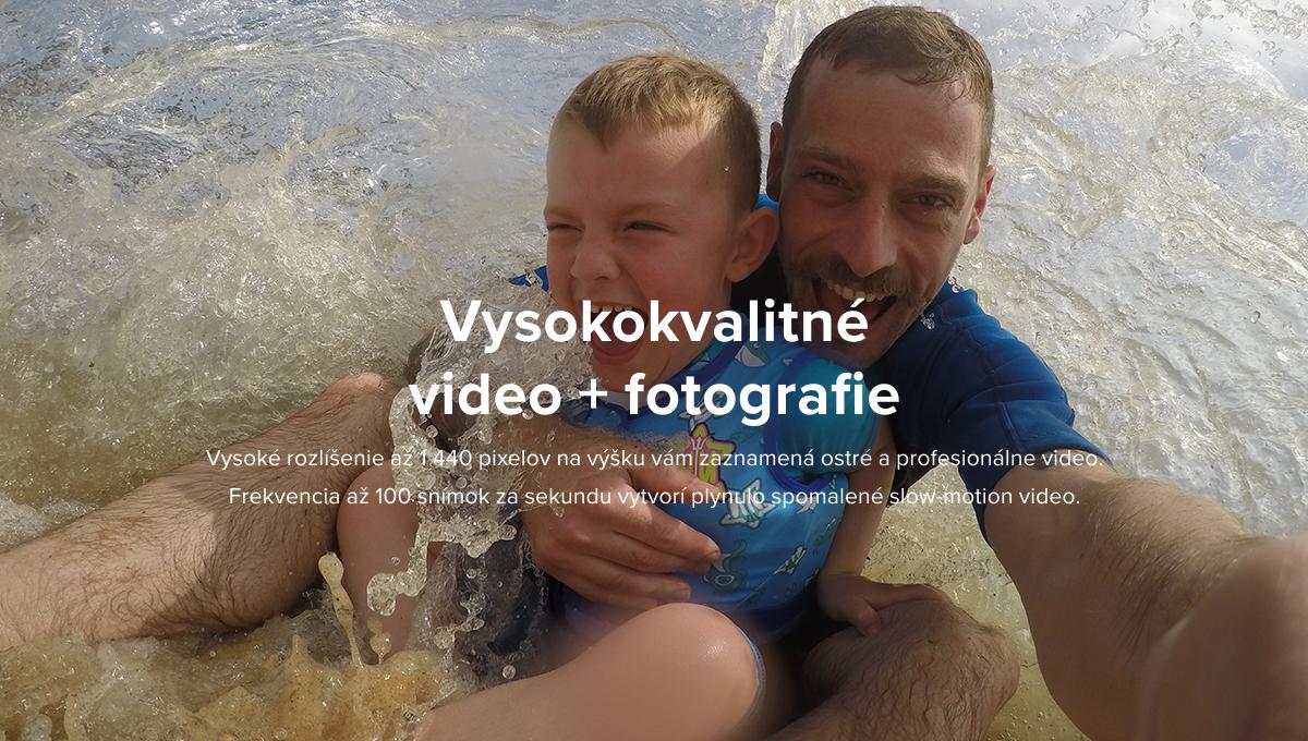 Popis: Vysokokvalitné video + fotografie - Vysoké rozlíšenie až 1 440 pixelov na výšku vám zaznamená ostré a profesionálne video. Frekvencia až 100 snímok za sekundu vytvorí plynulo spomalené slow-motion video.