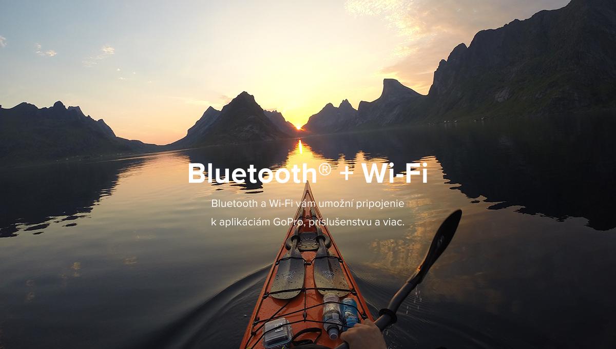 Popis: Bluetooth + Wi-Fi - Bluetooth a Wi-Fi vám umožní pripojenie k aplikáciám GoPro, príslušenstvu a viac.