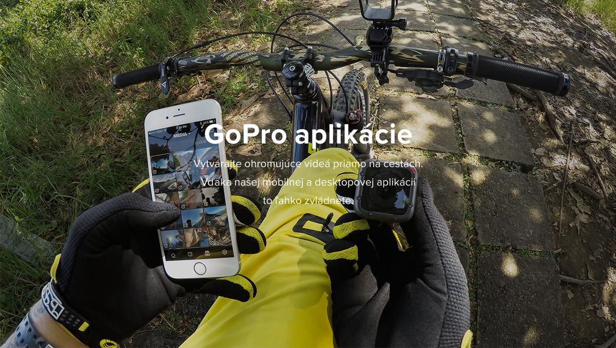 Popis: GoPro aplikácie - Vytvárajte ohromujúce videá priamo na cestách. Vďaka našej mobilnej a desktopovej aplikácii to ľahko zvládnete.